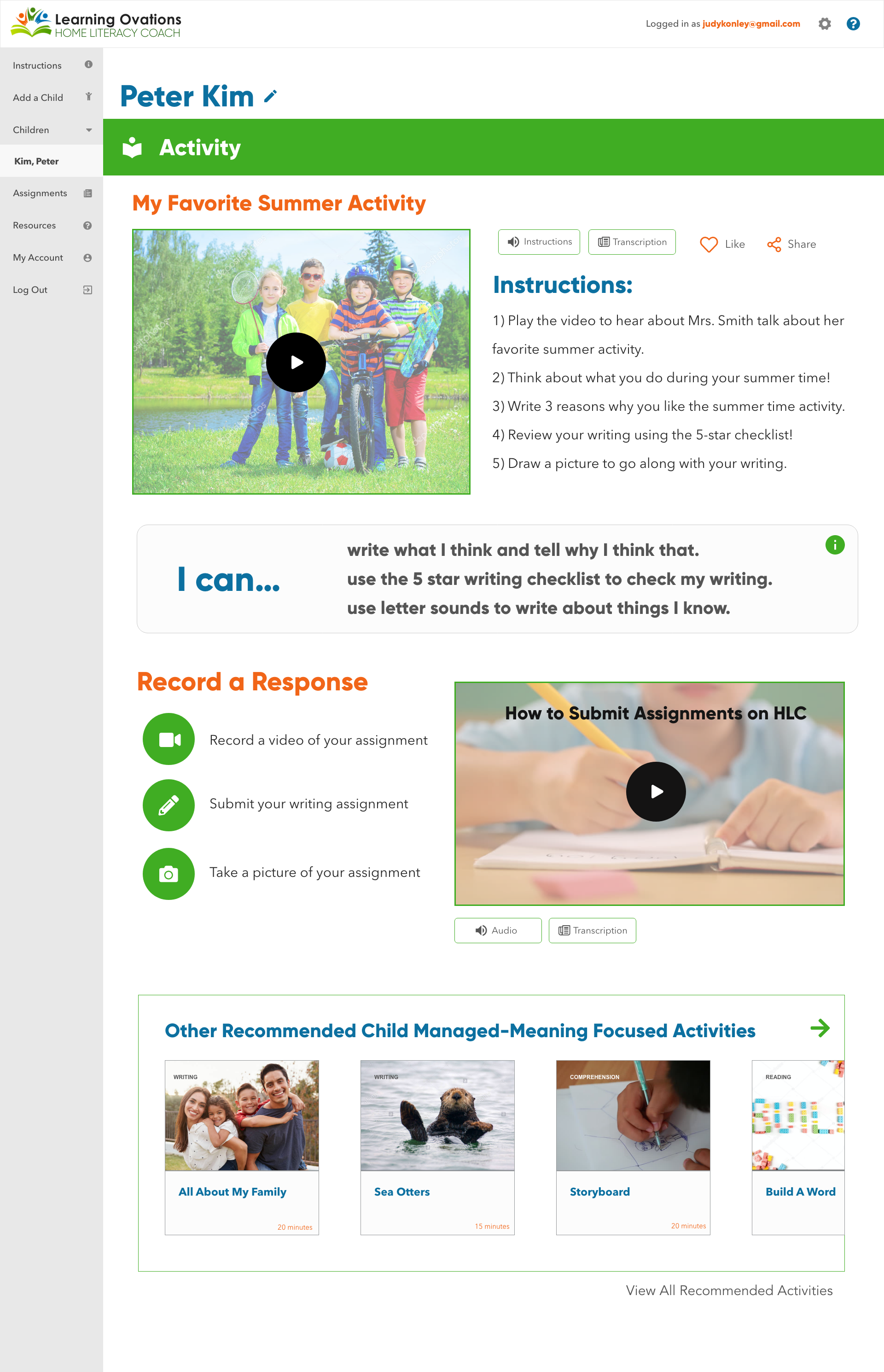 Activity-Page